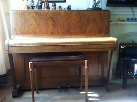 Free - Upright Piano nice piece of furniture-just needs tuning