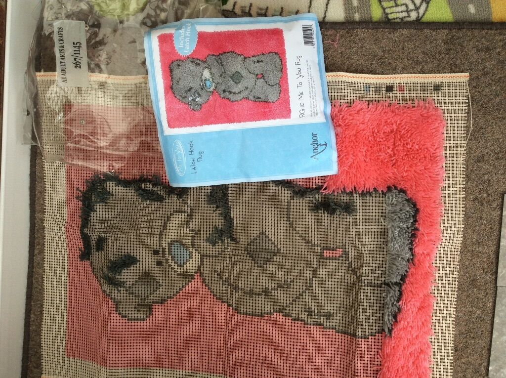 Me To You Tatty Teddy Latch Hook Kit By Anchor Unfinished Project