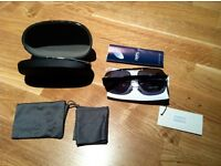 Giorgio Armani authentic sunglasses brand new with case, cloth, packing. Aviator style black colour