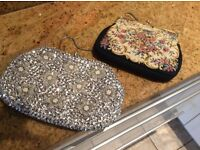 Vintage evening bags, two in perfect condition