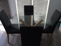 Dining table & 4 chairs for sale £140