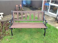 NEWLY REFURBISHED CAST IRON TABLES AND BENCHES