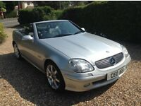 Mercedes slk230se sports car, automatic, convertible with electric roof, low mileage