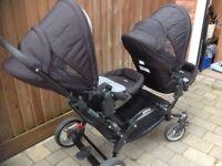 O baby zoom double buggy