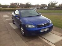 2004 VAUXHALL ASTRA BERTONE COUPE CONVERTIBLE 1.8cc BLUE 12 MONTH M.O.T.