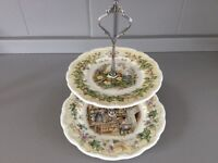 Royal Doulton Brambly Hedge 2 Tier Cake Stand.