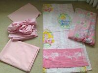 Disney Princess bedding and curtains bundle, single bed, girls, kids bedroom RRP £150