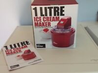 Ice cream maker.Brand new,still in box,with instructions.
