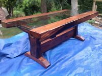 Beautiful Solid Wood Sleepers and Glass Dining Table