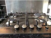 Bosch stainless steel gas hob £50