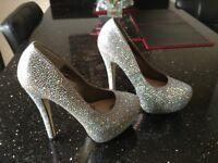 Ladies sparkly heels.