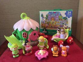 Fairy house, figures & jigsaw