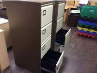 ONE 2 tone brown metal filing cabinet