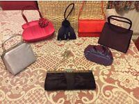 7 x evening handbags VGC