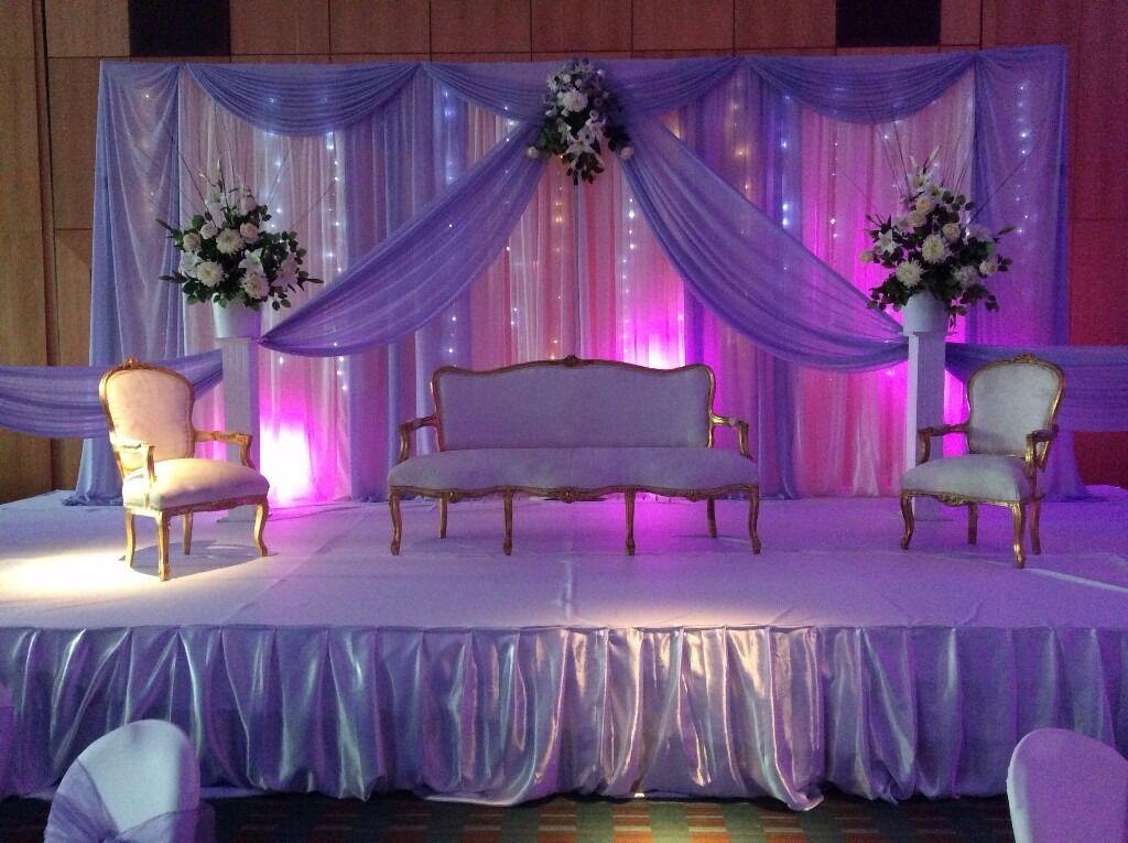 Wedding Stage Decoration Throne Chairsflowers Chiavari Chairs