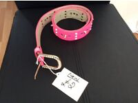 Brand New Pink Belt with Diamanté Stud Detail