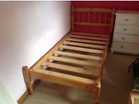 Single Pine Bed with SilentNight Mattress