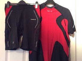 Kalenji running / cycling shorts and top size medium man.