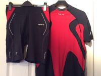 Kalenji running / cycling shorts and top size medium man.