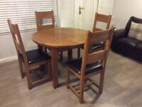 Oak table and chairs