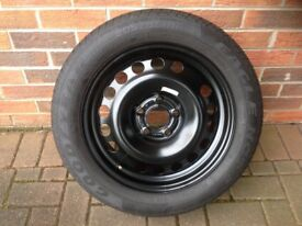 Spare Wheel Rim and Tyre for Vauxhall Meriva/Astra.