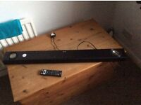 L.G SOUND BAR,WITH FITTED WOOFER SPEAKERS