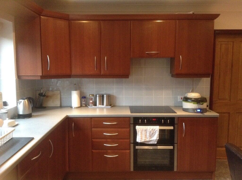 Kitchen unit doors and drawer fronts mahogany modern style ...
