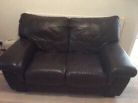 DFS 2 seater brown sofa
