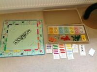 Board games. Monopoly and Scrabble