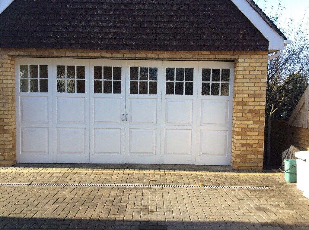 Garage doors for sale double garage solid wood doors in frinton on sea essex gumtree - Double wooden garage doors ...