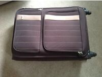 Large soft Antler suitcase, dark brown.