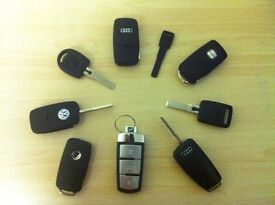 VW-AUDI-SKODA-SEAT LOST KEY SERVICE KEYS CUT & PROGRAMMED SAME DAY A4 MK4 GOLF PASSAT POLO A3 A2 SE