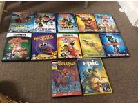 Bundle of Various kids dvds