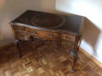 Leather inlaid Desk