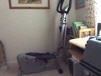 Body style Cross trainer,black and silver display functions.