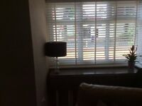 White wooden blinds brand new in the box