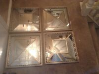Stunning designer mirror wall feature