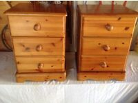 A pair of pine bedside chests. *****RESERVED*******