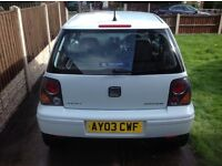 Seat Arosa( size of Vw Lupo, polo,ka 206, fiesta)