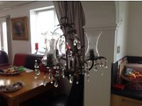 Beautiful chandelier ( antique look ) for sale in good condition all lights work...