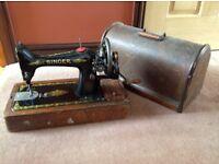 Antique singer sewing macine.