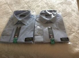 2 Gents m and s shirts new