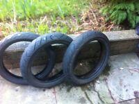 cbr125 tyres 100/80/17 ..130/70/17
