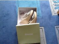 Dune high wedge sandals, boxed