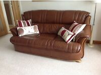 Italian calf leather settee