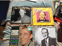 A collection of Bing Crosby lps