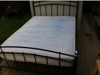 GOOD QUALITY BEDROOM DIVAN SPRING CLEAN DOUBLE*MATTRESS ONLY*CREAM COLOUR DELIVERY BELFAST AREA