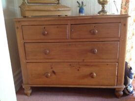 Antique Pine Chest of Drawers 2 over 2