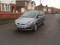 2006 Vauxhall zafira 1.6 Life 5dr estate petrol manual low mileage full service history £1750