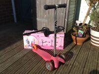 Pink Mini Micro Scooter with seat